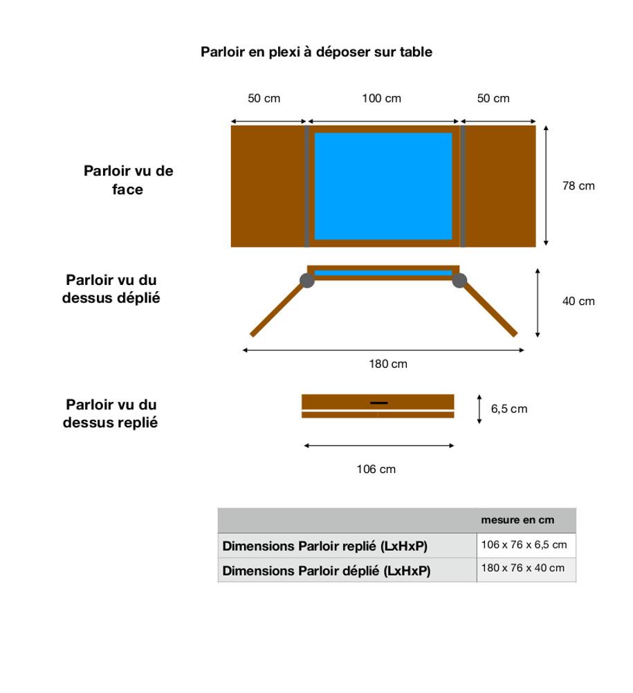 protection plexiglass parloir